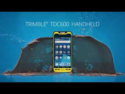 The TDC600 is a small and lightweight handheld GNSS receiver from