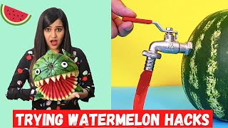 Trying WATERMELON life ha¢ks bY 5 Minute Crafts