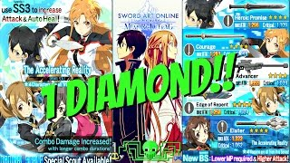 SAO Memory Defrag ~ 1 Diamond= 11 Summons!! ~ This is how you treat players!