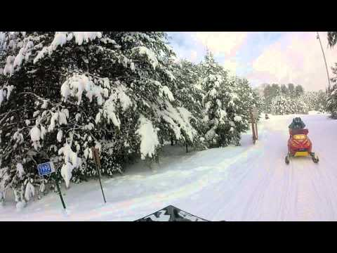 St. Germaine, WI Snowmobile Ride Ski-Doo
