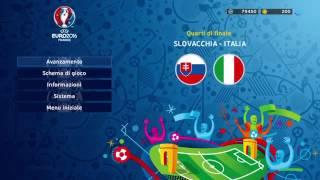 Slovacchia  -  Italia  - 1 - 0  Pes 2016: Gameplay Euro 2016  2@ Turno Ad EliminazioneDiretta Quarti