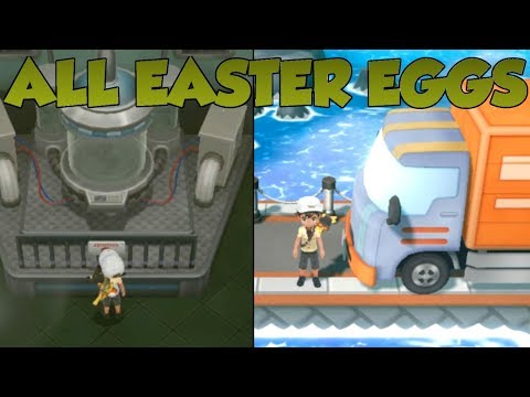 Pokemon Lets Go Pikachu and Eevee - All Easter Eggs |