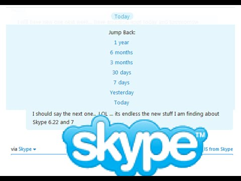 Skype Jump Back To Earlier Chat History (New In Skype Version 7)
