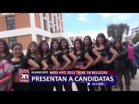 """CANDIDATAS AL """"MISS HUANCAYO 2015"""" KDNA NOTICIAS"""