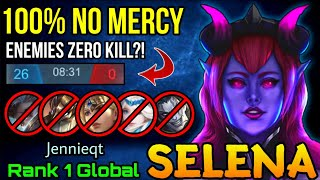 100% NO MERCY!! Selena Absolutely Dominate The Game - Top 1 Global Selena by Jennieqt - MLBB