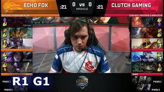 Echo Fox vs Clutch Gaming - Game 1 | Round 1 S8 NA Regional Qualifier for S8 Worlds 2018 | FOX vs CG