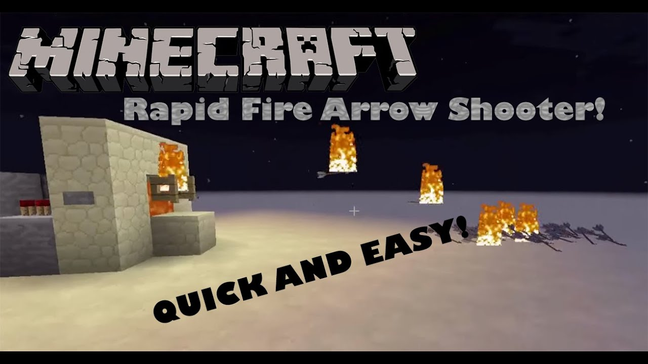 How to make rapid fire arrows in minecraft
