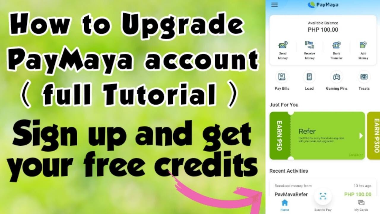FREE LOAD | How to Upgrade PayMaya account and get 50 peso