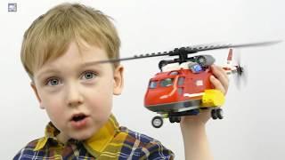 Лего Сити Пожарные 60108. Обзор конструктора Лего Пожарная команда быстрого реагирования. Картонка