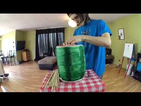 Smoking the World Record 4.2 Pound Watermelon Joint