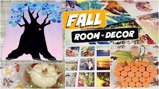 Diy Fall Room Decor // Cork Pumpkin, Button Tree Art, & More! // Autumn Decorations