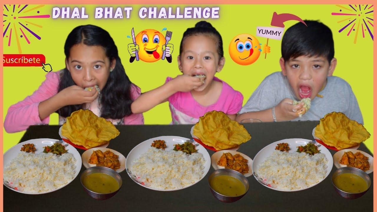 DHAL BHAT TARKARI CHALLENGE  WE SISTERS