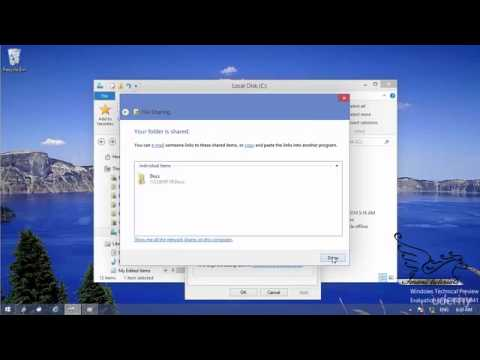 how to create shared network folder windows 10