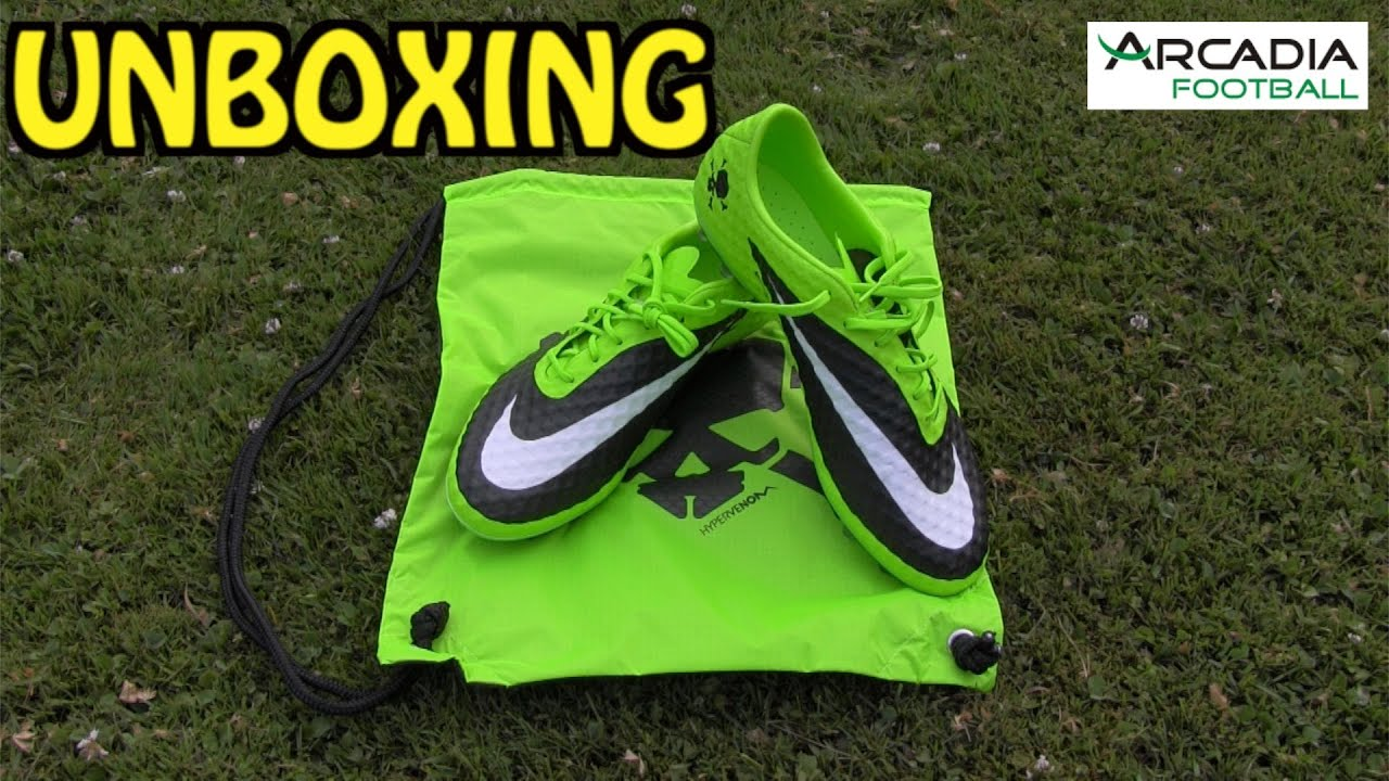 ... official unboxing nike hypervenom phantom fg flash lime black 10bra  football 58a32 95db9 c5c679b6d1a7