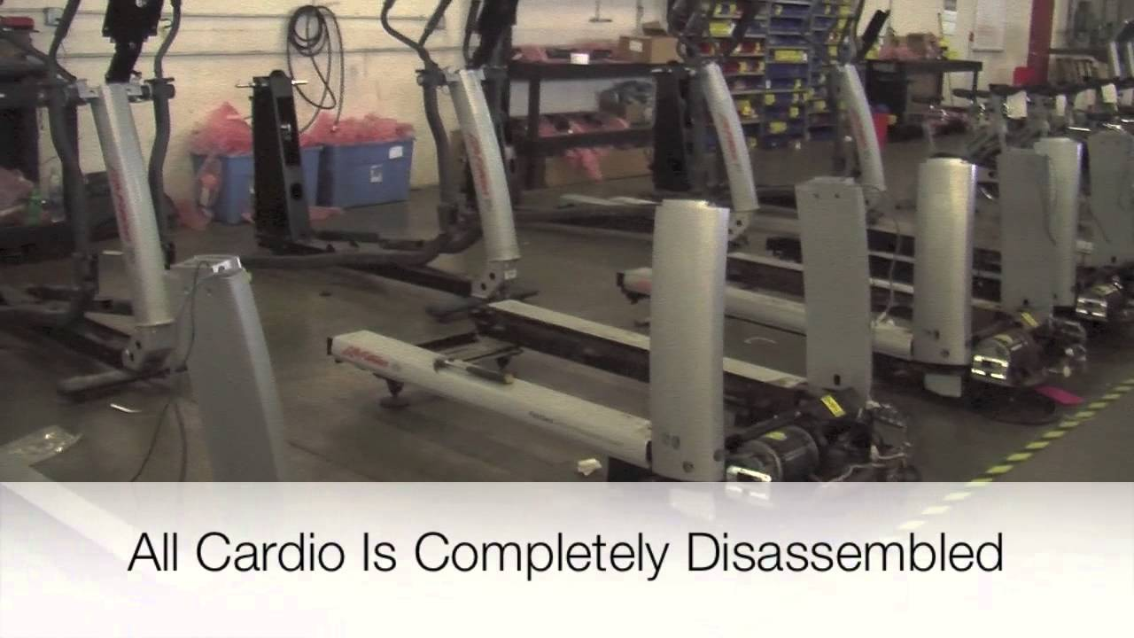 Used Gym Equipment for sale Remanufacturing Factory Video ...