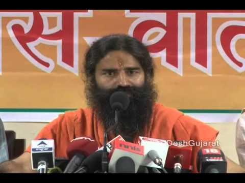 Ramdev Baba's joshdaar media briefing, interaction with media in Narendra Modi's Gujarat
