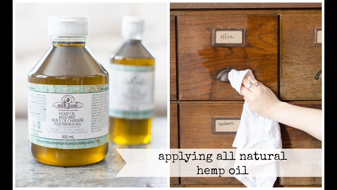 Using All Natural Hemp Oil To Revive Wood And Finish Painted Pieces | Miss  Mustard Seed   YouTube