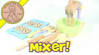 Kid Kraft Wooden Mixer Bowl And Supplies - Making Chocolate Chip Cookies!