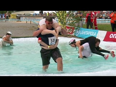 Otis - Couple Wins Wife's Weight In Beer By Winning Annual Wife Carrying Contest