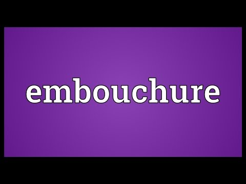 Embouchure Meaning