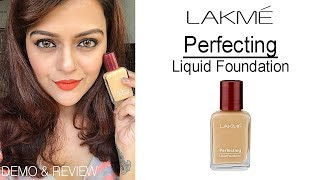 Lakme perfecting Liquid Foundation | Demo & Review | Best Cheap Foundation OR Worst?