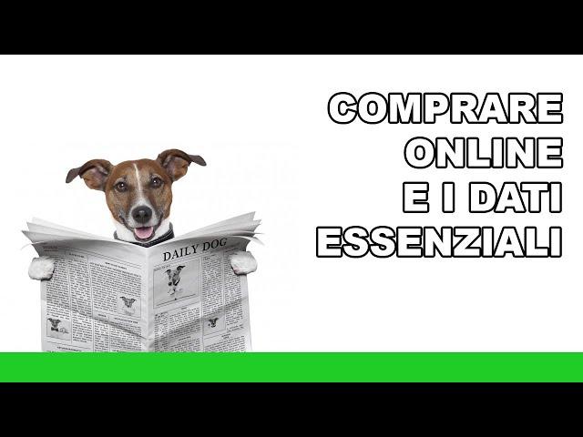 Acquistare online: i dati essenziali - 1minutodiRug