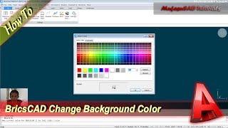 BricsCAD Change Background Color Basic Tutorial For Beginner