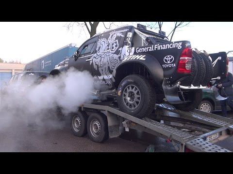 """DAKAR Rally :  """"General Financing – Autopaslauga by Pitlane"""" car and support truck"""