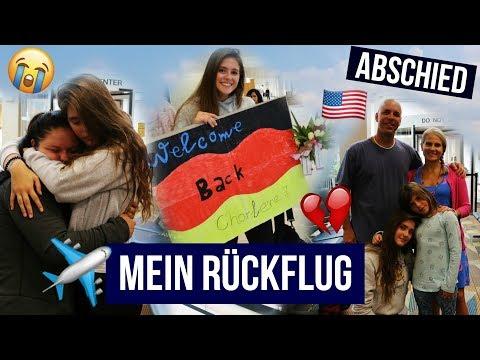 Mein Rückflug / Familie + Freunde nach 10 Monaten wiedersehen/ Abschied // AUSLANDSJAHR USA 2017/18