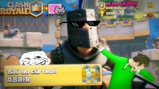 Clash Royale - O baú do Clã Troll e a Batalha Zoada