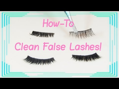 How to Clean False Lashes - Re Using Lashes to Save Money!!!
