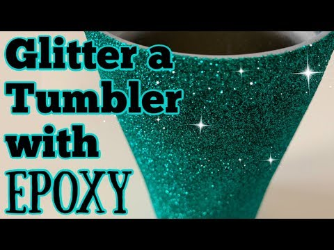 How to Glitter a Tumbler Using Epoxy Method | DIY Epoxy Tumbler Series- Start to Finish | Episode 2