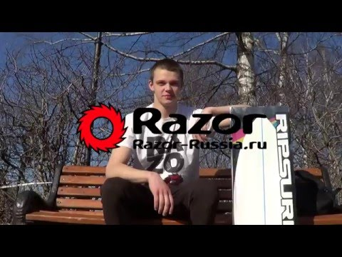 Обзор двухколесного скейта Razor RipSurf.  Трюки на роллерсерфе и вейвборде РипСёрф.