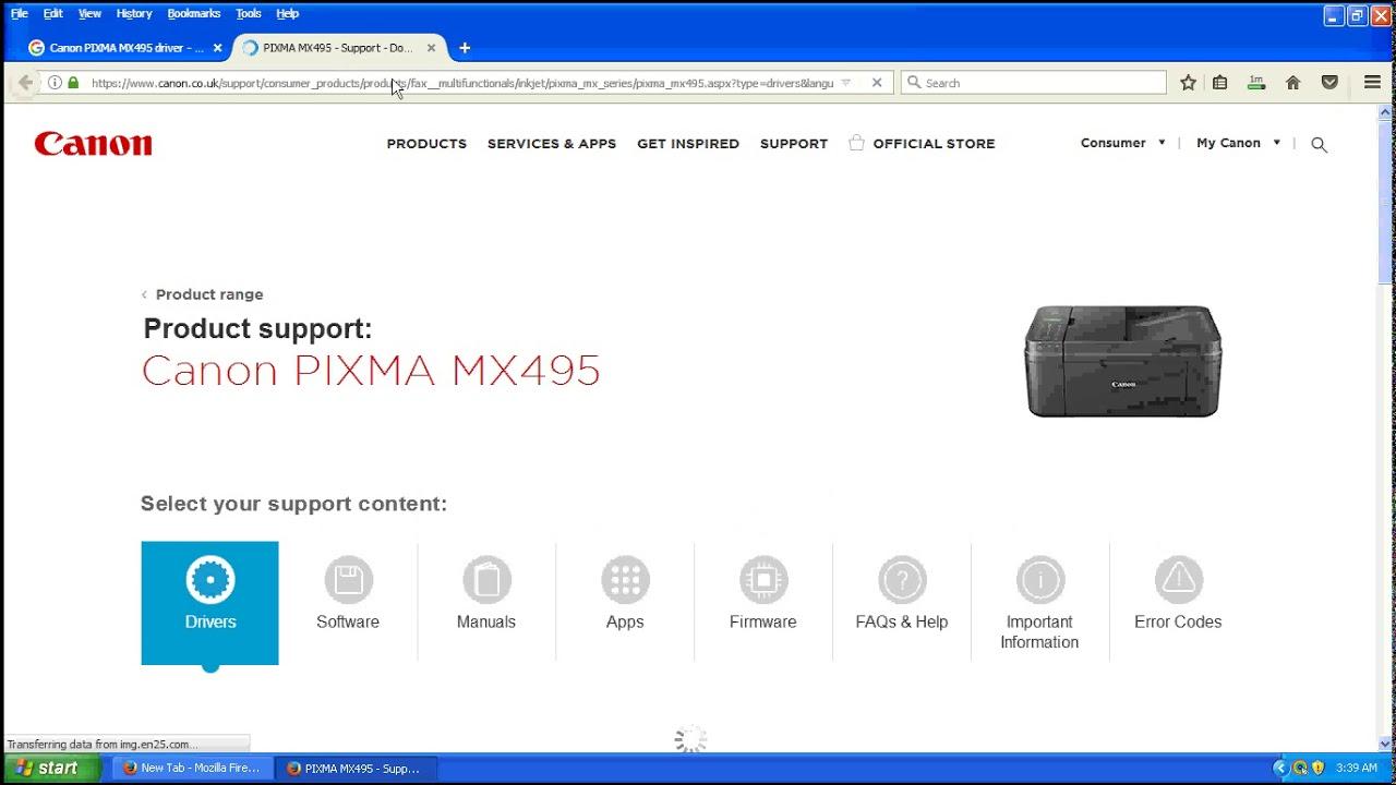 canon mx495 driver download windows 7