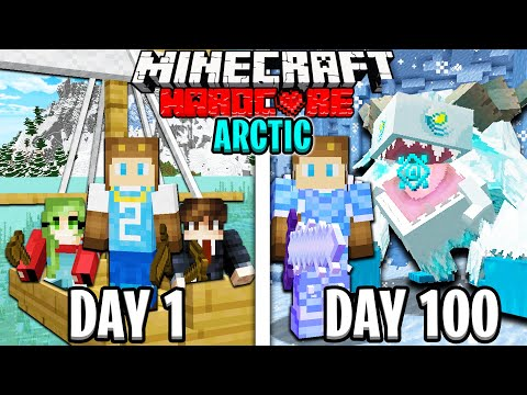 I Survived 100 Days in the Arctic Ocean on Hardcore Minecraft!