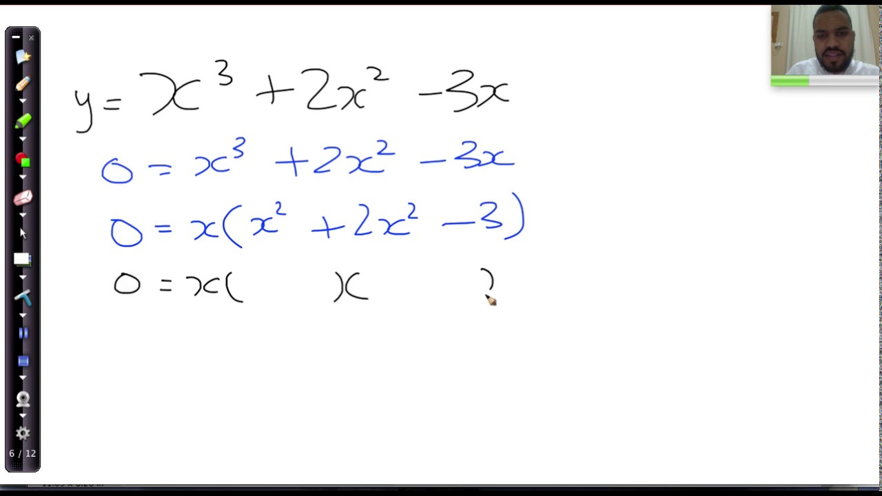 05 Finding X Intercepts Of Cubics Easy Withmon Factor Example 2