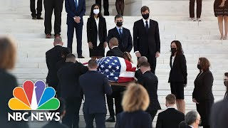 Former Clerks Of Ruth Bader Ginsburg Watch As Casket Arrives At Supreme Court | NBC News