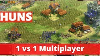 Age of Empires 2 Definitive Edition HUNS CIVILIZATION. 1 vs 1 MULTIPLAYER Gameplay. [PC 4K Graphics]