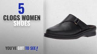 Top 5 Clogs Women Shoes [2018]: Clarks Women's Patty Nell Mule, Black Leather, 9 M US