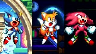 Sonic Mania : Super Sonic, Super Tails & Super Knuckles Gameplay