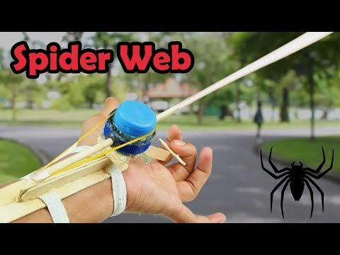 How To Make Spider Web Easy & Simple - SPIDER MAN Web Shooter!