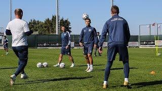 Тренировочные сборы в Турции Предыгровая тренировка перед матчем с Каспием