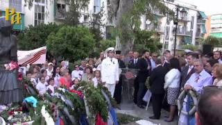 Возложение венков к памятнику  советскому солдату в Каллифее 9 мая 2015 г