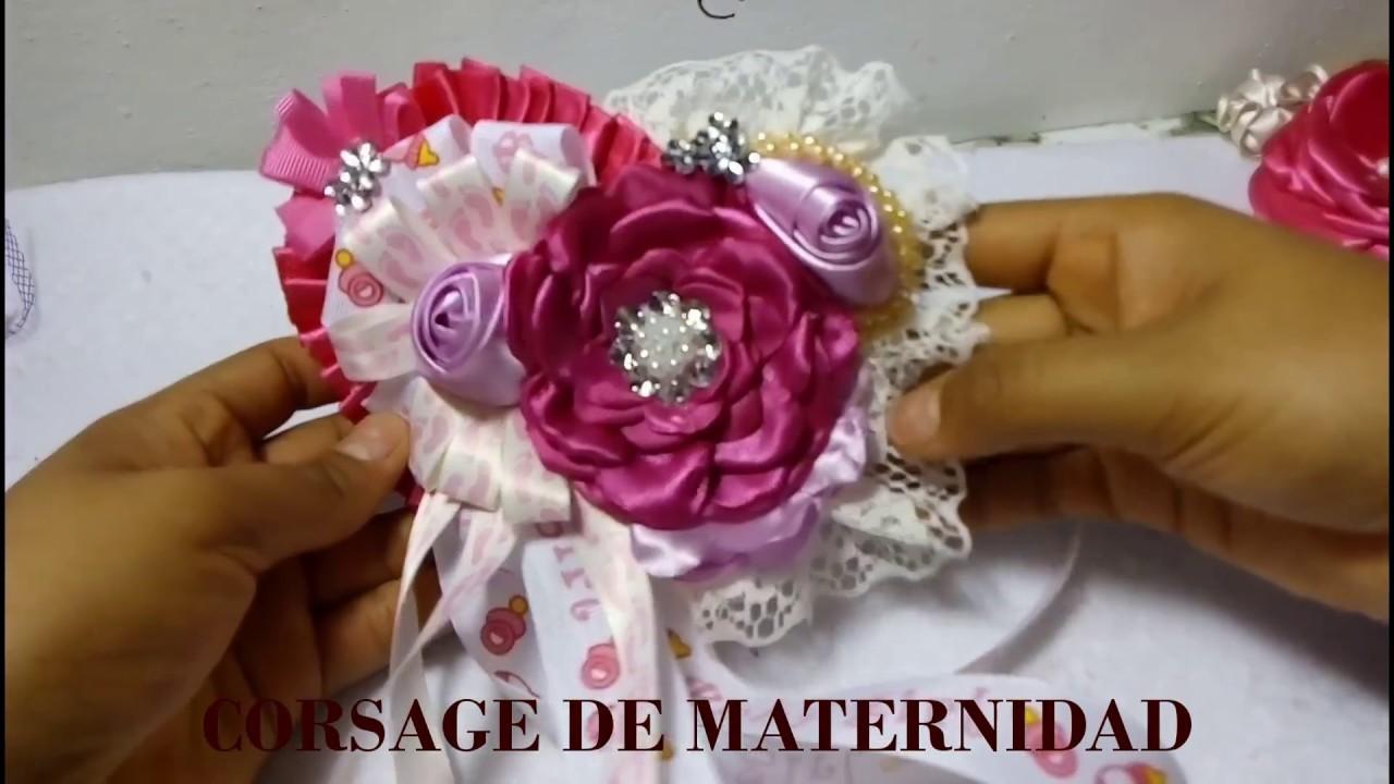Corsage Para Baby Shower De Nia Distintivo Youtube