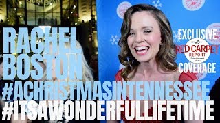 Rachel Boston #AChristmasinTennessee interview #ItsAWonderfulLifetime Christmas Kickoff #LifeTimeTV