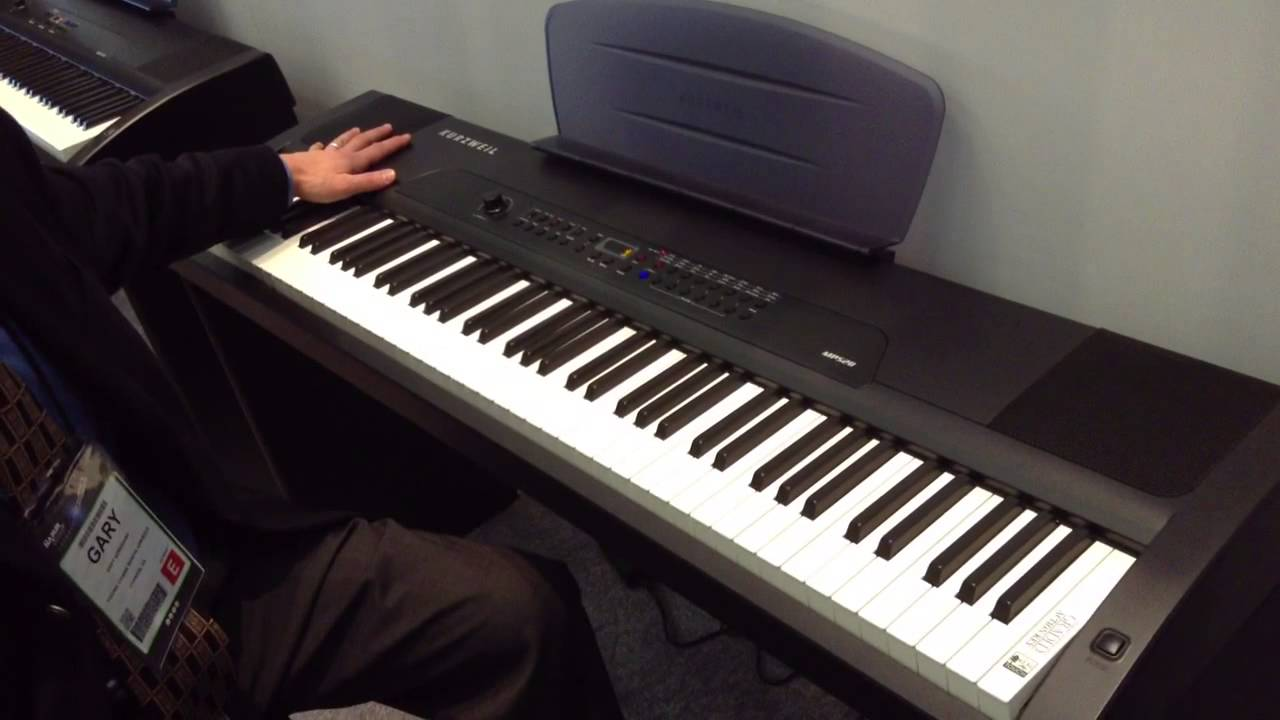 kraft music kurzweil mps20 digital piano demo at namm 2013 youtube. Black Bedroom Furniture Sets. Home Design Ideas