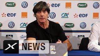 Joachim Löw über die Niederlage, Thomas Müller und Youngster | Frankreich - Deutschland 2:1 | SPOX