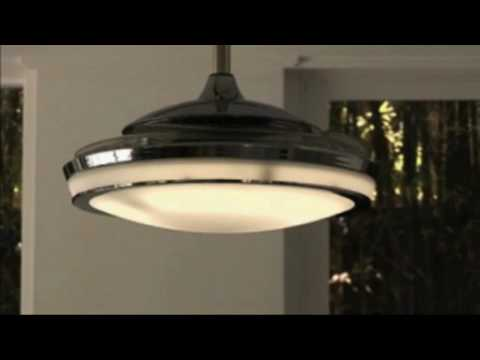 Fanaway   Retractable Blade Ceiling Fan   YouTube