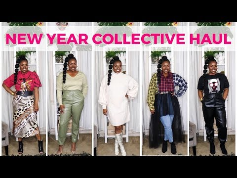 NEW YEAR COLLECTIVE TRY ON HAUL (FASHION NOVA, H&M, BOOHOO...)