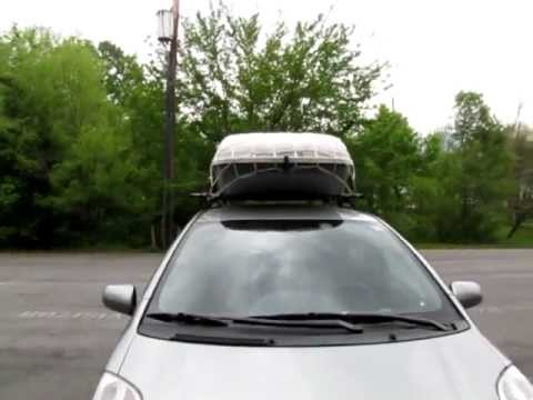 Toyota Yaris 2010 Roof Rack Cargo Carrier Youtube